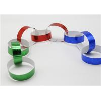 Wholesale Holographic Striped Christmas Paper , Gummed Paper Chains For Display SGS from china suppliers