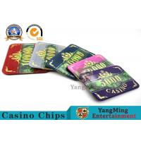 Wholesale Fashion Bronzing Acrylic Purple Casino Poker Chip Set Anti - Counterfeit Customizable from china suppliers