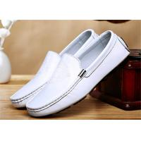 Head Leather Upper Loafer Slip On Shoes Mens Casual Moccasins For Spring Autumn