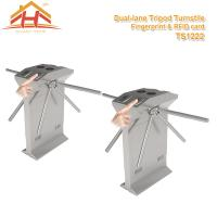 Wholesale Speed Gate Office Pedestrian Access Control Turnstile , Stainless Steel Turnstiles from china suppliers