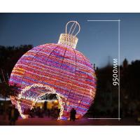 giant outdoor christmas lights led big ball 3d motif light