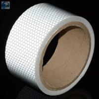 Wholesale Light 2 Inch White Reflective Tape For VehiclesDOT C2 Glass Beads Pressure Sensitive Type from china suppliers