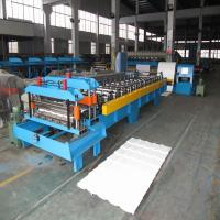 Wholesale 380V 50Hz Steel Tile Roll Forming Machine with Compture Control System / Cr12mov Blade from china suppliers