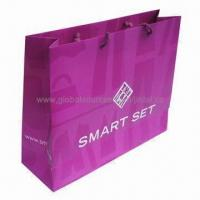Wholesale Paper promotional shopping bag, OEM orders are welcome from china suppliers
