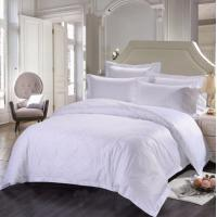 Quality Double Size Hotel Bedding Linen Plain White Color And 400T With 100% Cotton for sale
