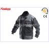 Durable S / M / L Canvas Workwear , Twill Elastic Cuff Long Sleeve Jacket