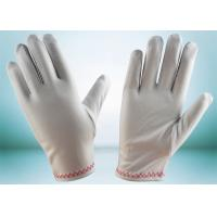 Buy cheap Red Stitches Line Lint Free Gloves Large Size With Common Binding ZS15-008 from wholesalers