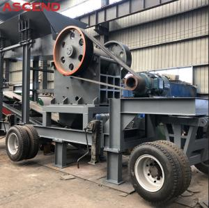 Wholesale Mobile Portable Stone Jaw Crusher Wheel Type Diesel Engine Jaw Crushing Plant from china suppliers