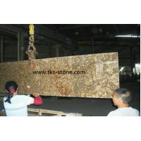 Buy cheap Giallo Veneziano Fiorito Yellow granite Kitchen Countertops,Natural stone from wholesalers