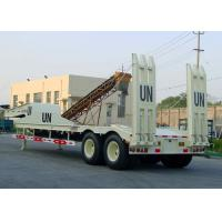 Wholesale 2 Axles 40T Fixed Gooseneck Low Bed Semi Trailer For Construction Machine Load from china suppliers