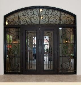 Wholesale wrought iron entry doors - chinairondoor-com