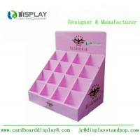 China Shop retail table top cosmetic cardboard counter display customized stand wholesale