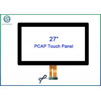 China 27 Inch Capacitive Touch Panel With ITO Technology G + G Structure For Touch Displays on sale
