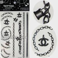 Wholesale Black and white water transfer tattoo sticker from china suppliers