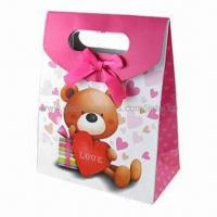 Wholesale Retail paper bag for candy packing with ribbon from china suppliers