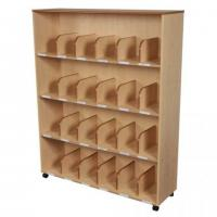 Cube Bookcase With Rolling Wheels / Powder Coated Tube DX-121 for sale