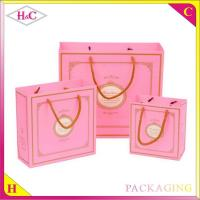 China European fashion hand length handle paperboard nuptial gift bag on sale