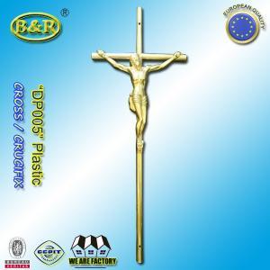 China Size 37.5cm*14cm coffin decoration catholic plastic christ crucifixes Ref DP005 plasticos cruces con cristos wholesale