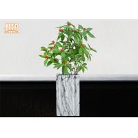 Wholesale Square Plant Pots Clay Flower Pots Marble Finish Pot Planters Indoor Floor Vases from china suppliers