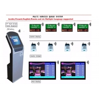 Wholesale Windows OS Wired Wireless 21.5 Inch All In One Touch Ticket Number Machine from china suppliers