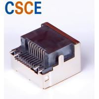 China Right Angle RJ45 SMD Connector , PCB Shielded SMT RJ45 Jack Housing Material LCP on sale