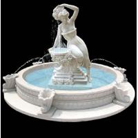 Wholesale Garden stone fountain carving statue water fountain white marble sculpture ,stone carving supplier from china suppliers