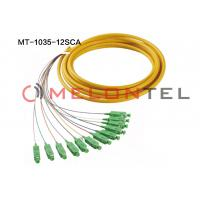 Wholesale 12 Cord SC APC Fiber Optic Pigtail Optical Fiber Patch Cord Jumper from china suppliers