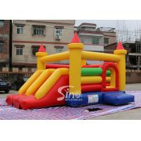 Kids rainbow inflatable combo bouncy castle with slide made in China inflatable factory