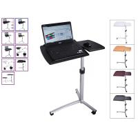 Rolling Angle Height Adjustable Laptop Desk , Over Bed Hospital Table
