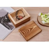 Wholesale Rustic Handcrafted Wood Decorative Boxes , Dark Wood Standing Jewelry Box With Lid from china suppliers