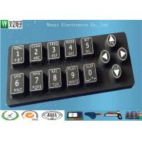 Wholesale White Print 50 Degree Silicone Rubber Keypad Laser Engraved Non Removable from china suppliers