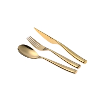 Buy cheap Dishwasher Safe LFGB 304 Gold Stainless Steel Silverware Forks from wholesalers