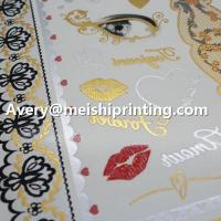 Wholesale Metallic Glitter Flash Temporary Water Transfer Tattoo Sticker from china suppliers