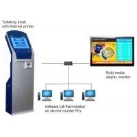 Buy cheap Bank 17 inch Touch Screen Ticket Dispenser Queue Management System from wholesalers