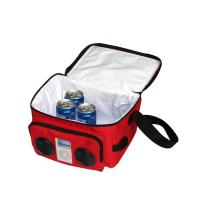 Wholesale Red Recycle 600D Polyester Radio lunch Cooler bag with PP Shoulder Strap from china suppliers