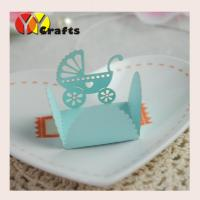 Wholesale Mini Blue Laser Cut Cupcake Wrappers For Baby Shower Party / Baptism from china suppliers