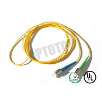 1F 1.6MM Custom Fc Fiber Patch Cord OS2 With Yellow Jacket , 85447000 HS Code
