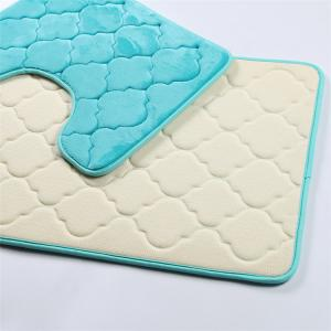 Wholesale Fleece Surface Non Slip Memory Foam Bath Mat Fluffy Style from china suppliers