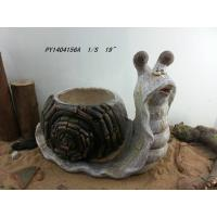 """China 19"""" Natural Snail Decorative Outdoor Planters For Garden / Patios wholesale"""