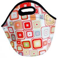 Wholesale Zippered insulated portable neoprene lunch tote bag with durable hard liner from china suppliers