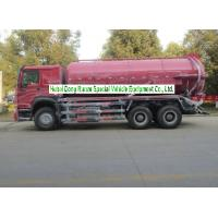 Wholesale Sinotruk Howo 18000L Sewage Suction Truck With Vacuum Pump 10 Wheeler from china suppliers