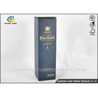 Wholesale Customized Dark Paper Wine Box Logo Printed Rectangle Shaped With Long Lifetime from china suppliers