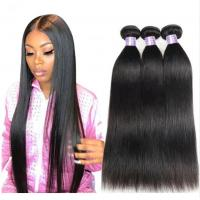 Buy cheap Comfortable Straight Bundles Peruvian Human Hair Weave 100 Grams / Piece from wholesalers