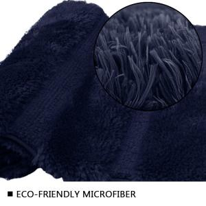 Wholesale Navy Blue 2250GSM Cushioned Bath Mat Rubber Backed Bathroom Carpet from china suppliers
