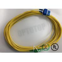 Wholesale Duplex Yellow Fiber Optic Patch Cord Single Mode FC / UPC - FC / APC 20 Mm from china suppliers