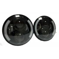 Wholesale 7 Inch 40W Black Jeep Wrangler LED Headlights Round J10 High Intensity from china suppliers