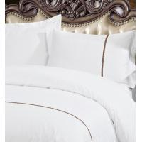 Quality Elegant Yellow Piping Edge Hospital / Hotel Bed Linen With Customized Patterns for sale