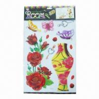 Wholesale 3D PVC wall decals, decoration for window/room/anywhere from china suppliers