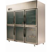 Wholesale Commercial Six Small Clear Door Refrigerator For Supermarket , 1550L from china suppliers