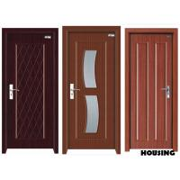 Eco friendly wood pvc doors with handles rubber seal for Eco friendly doors